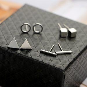 Jewelry - NEW 4 pairs geommetric stud earrings set